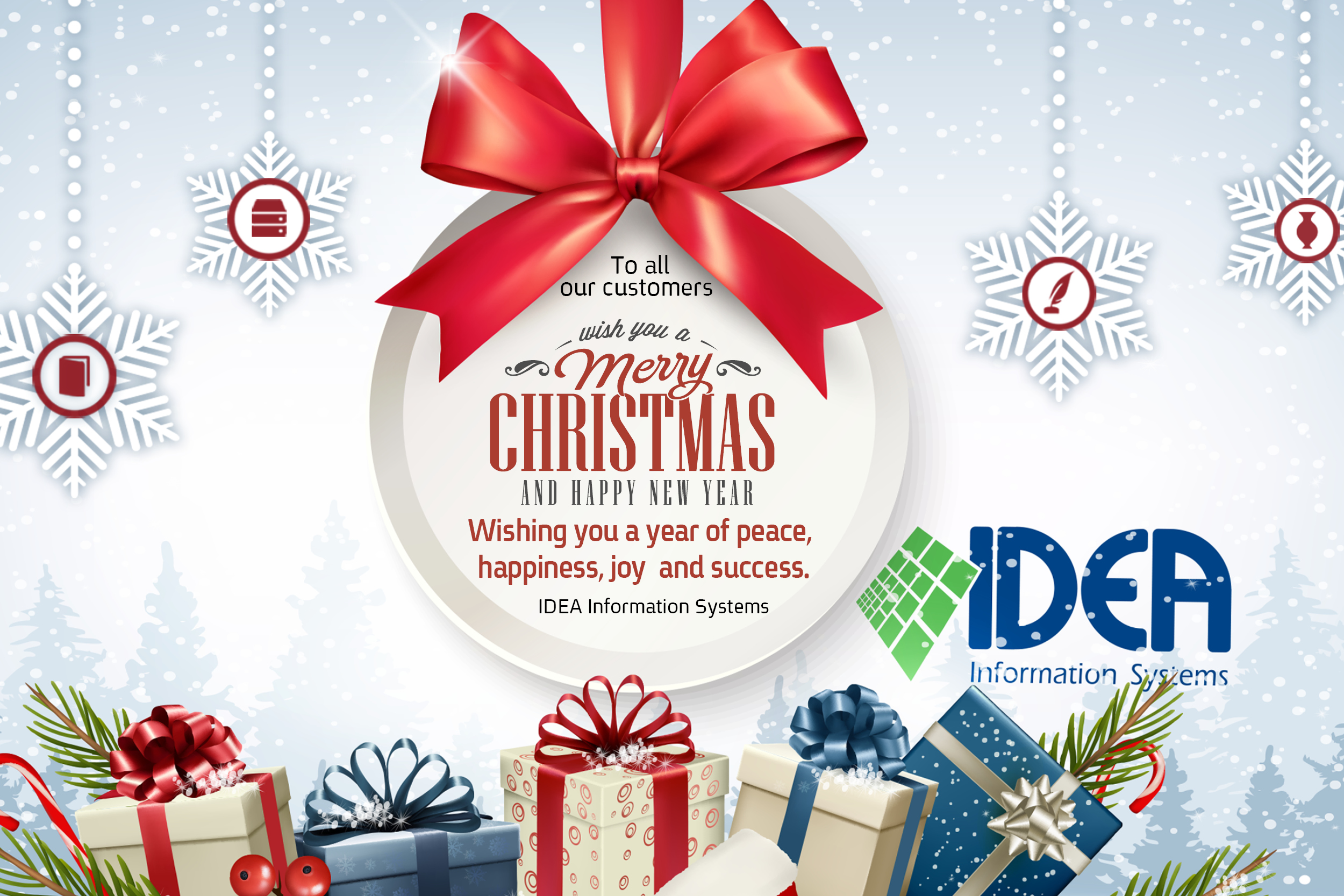 To all our customers wish you a Merry Christmas & Happy new year ...